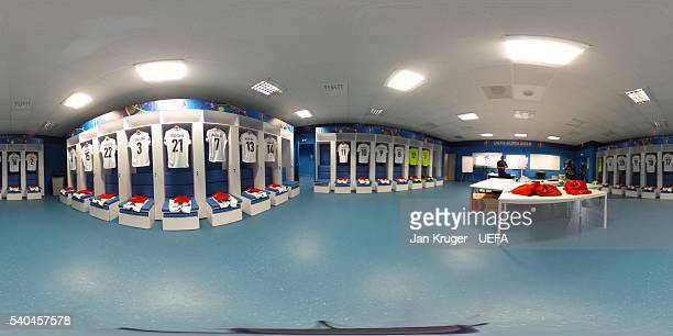 A general view of the Albania dressing room prior to the UEFA EURO 2016 Group A match between France and Albania at Stade Velodrome on June 15 2016...