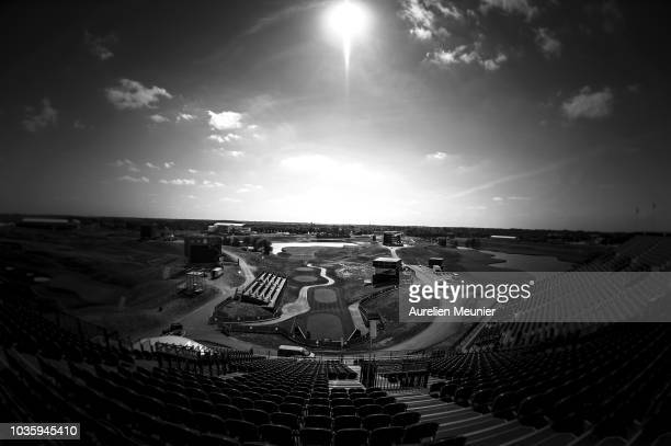 A general view of the Albatros course prior to the 2018 Ryder Cup at Le Golf National on September 19 2018 in Paris France