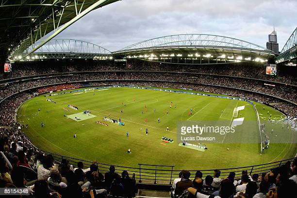 A general view of the ALeague Grand Final match between the Melbourne Victory and Adelaide United at the Telstra Dome on February 28 2009 in...