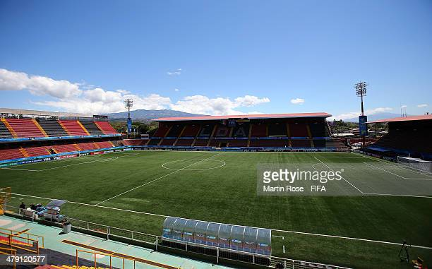 A general view of the Alejandro Morera Soto Scotiabank stadium before the FIFA U17 Women's World Cup 2014 group D match between Mexico and Colombia...