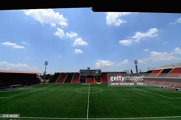 A general view of the Alejandro Morera Soto Stadium on March 12 2014 in Alajuela Costa Rica