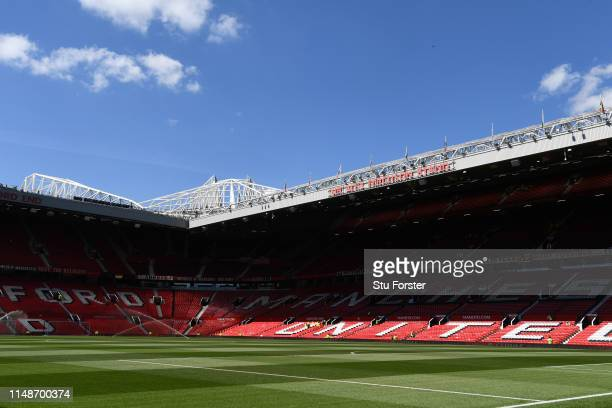 A general view of the Alex Ferguson Stand during the Premier League match between Manchester United and Cardiff City at Old Trafford on May 12 2019...