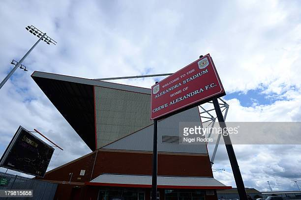 A general view of The Alexandra Stadium ahead of the Sky Bet League One match between Crewe Alexanders and Peterborough United on September 7 2013 in...