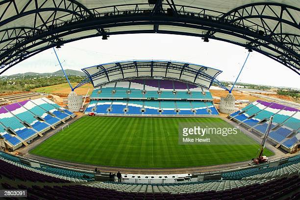 General view of the Algarve Stadium taken during a photoshoot held on December 1, 2003 in Faro-Loule, Portugal. The stadium will be used as one of...