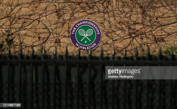 General view of The All England Lawn Tennis and Croquet Club, best known as the venue for the Wimbledon Championships, on March 26, 2020 in London,...