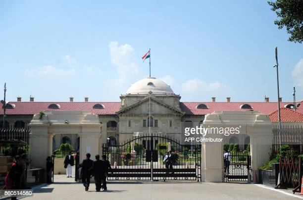 General view of the Allahabad high court building in Allahabad on October 12, 2017. An affluent Indian couple on Thursday won their appeal against a...