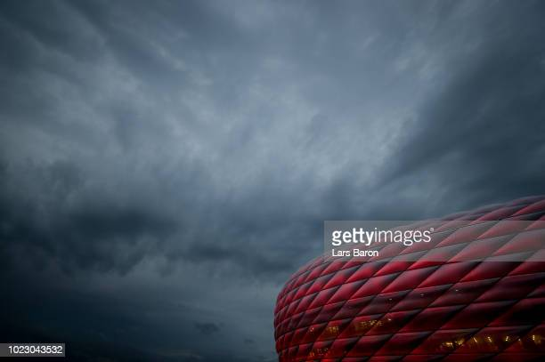 A general view of the Allianz Arena prior to the Bundesliga match between FC Bayern Muenchen and TSG 1899 Hoffenheim at Allianz Arena on August 24...