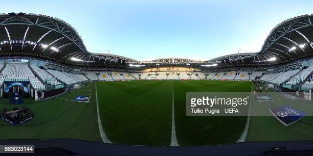 A general view of the Allianz Arena prior to the UEFA Champions League group D match between Juventus and Sporting CP at Juventus Stadium on October...