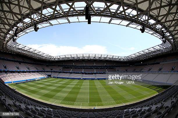 General view of the Allianz Riviera ahead of the UEFA Euro 2016 tournament on June 7 2016 in Nice France