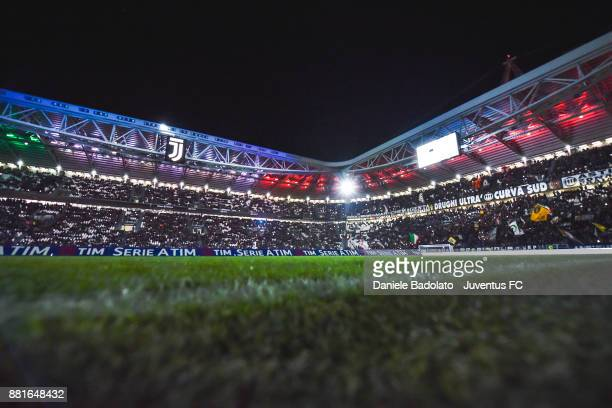 general view of the Allianz Stadium before the Serie A match between Juventus and FC Crotone at Allianz Stadium on November 26 2017 in Turin Italy