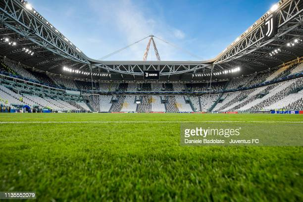 general view of the Allianz Stadium before the UEFA Champions League Round of 16 Second Leg match between Juventus and Club de Atletico Madrid at...