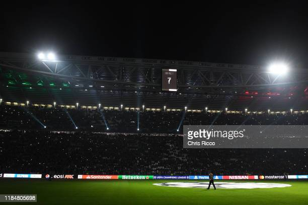 General view of the Allianz Stadium during the UEFA Champions League group D match between Juventus and Atletico Madrid at Allianz Stadium on...