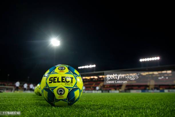 General view of the Allsvenskan match ball ahead of the Allsvenskan match between Ostersunds FK and Hammarby IF at Jamtkraft Arena on October 27 2019...