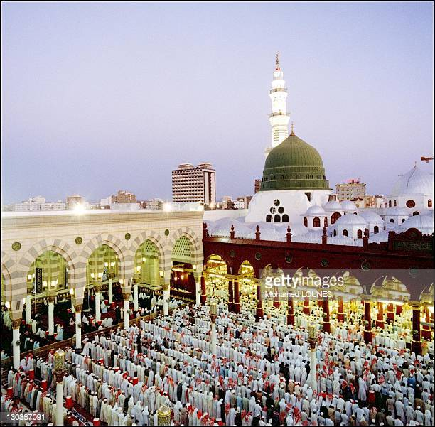 A general view of the AlMasjid alNabawi during April 1997 in MedinaSaudi Arabia