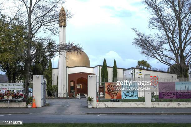 A general view of the AlNoor Mosque ahead of the last day of the sentencing hearing for Brenton Tarrant the gunman who massacred 51 people during...
