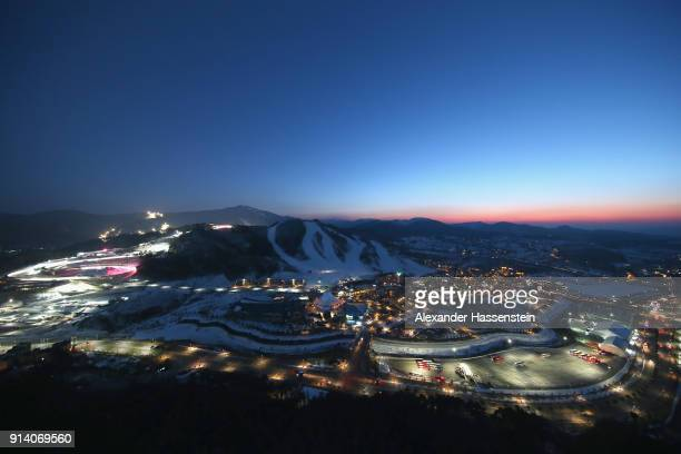 General view of the Alpensia Resort during previews ahead of the PyeongChang 2018 Winter Olympic Games at on February 4 2018 in Pyeongchanggun South...