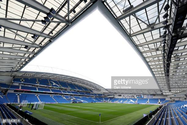 A general view of the Amex Stadium ahead of the Premier League match between Brighton and Hove Albion and Everton at Amex Stadium on October 15 2017...