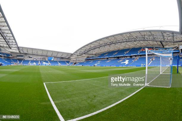 A general view of the Amex Stadium before the Premier League match between Brighton and Hove Albion and Everton at Amex Stadium on October 15 2017 in...
