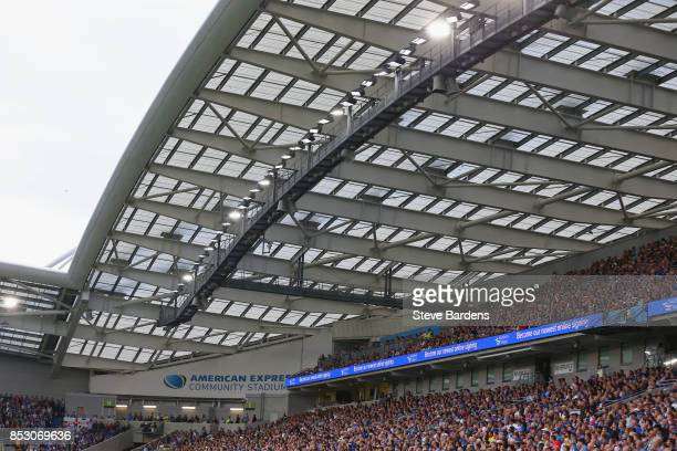 General view of the Amex Stadium during the Premier League match between Brighton and Hove Albion and Newcastle United at Amex Stadium on September...