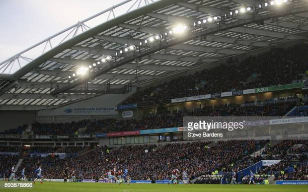 General view of the Amex Stadium during the Premier League match between Brighton and Hove Albion and Burnley at Amex Stadium on December 16 2017 in...