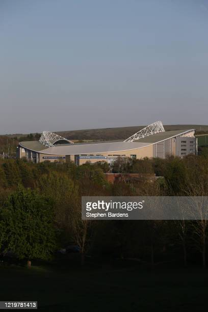 General view of the Amex Stadium, home of Brighton & Hove Albion on April 19, 2020 in Brighton, England. In a press conference on Thursday, First...