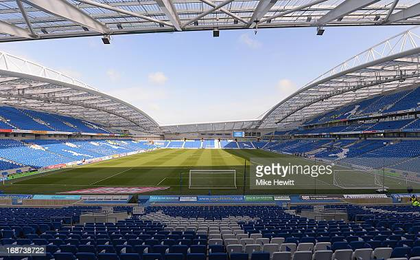 General view of the Amex Stadium prior to the npower Championship Play Off Semi Final Second Leg between Brighton Hove Albion and Crystal Palace at...