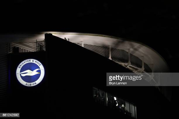 A general view of the Amex Stadium prior to the Premier League match between Brighton and Hove Albion and Crystal Palace at Amex Stadium on November...