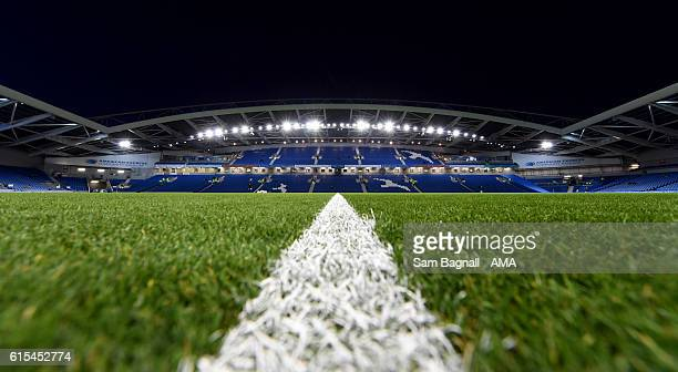 A general view of The AMEX Stadium the home of Brighton Hove Albion prior to the Sky Bet Championship match between Brighton Hove Albion and...