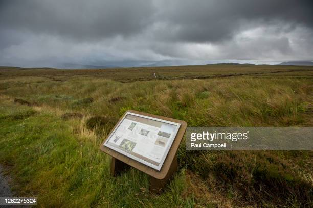 General view of the A'Mhoine on the Moine Peninsula in the county of Sutherland, the proposed site for the planned spaceport, 'Space Hub Sutherland',...