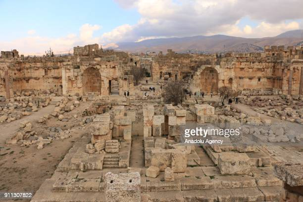 A general view of the ancient city of Baalbek in Lebanons eastern Beqaa province on January 28 2018