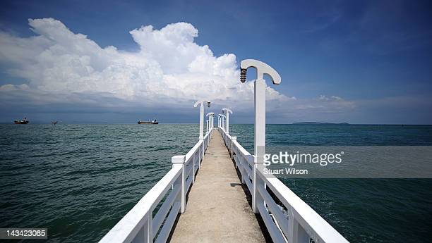 General view of the Andaman Sea from Cpe Panwa Pier Phuket on April 23 2012 in UNSPECIFIED Thailand