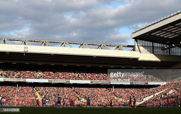 General View of the Anfield Road end during the Barclays Premier League match between Liverpool and Reading at Anfield on October 20 2012 in...