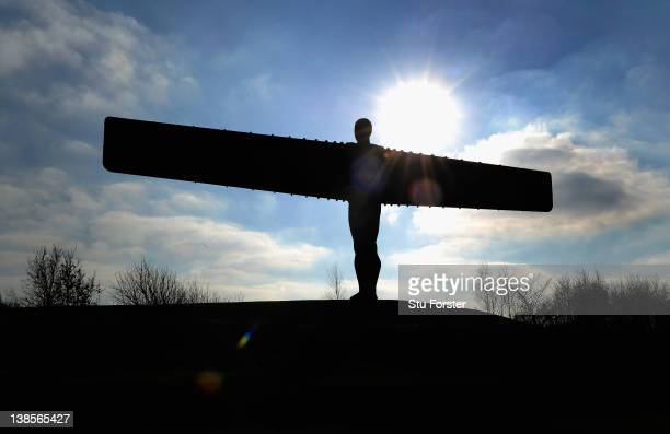 A general view of the Angel of the North on February 3 2012 in Gateshead Newcastle upon Tyne England