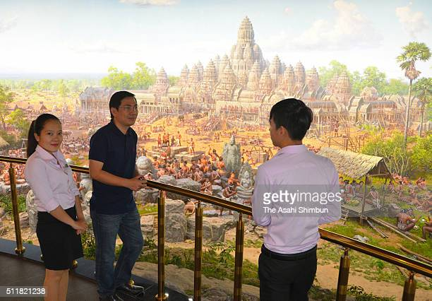 A general view of the Angkor Panorama Museum which funded by North Korea on February 11 2016 in Siem Reap Cambodia