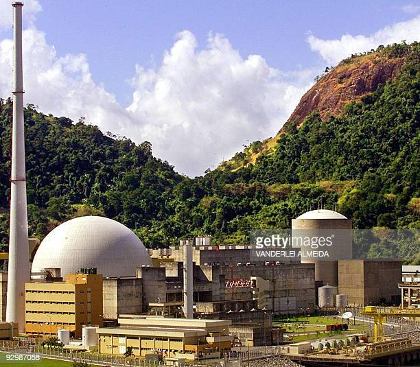 General view of the Angra 1 and Angra 2 nuclear power plants in Angra dos Reis 250 km south of Rio de Janeiro Brazil May 30 2005 A massive blackout...