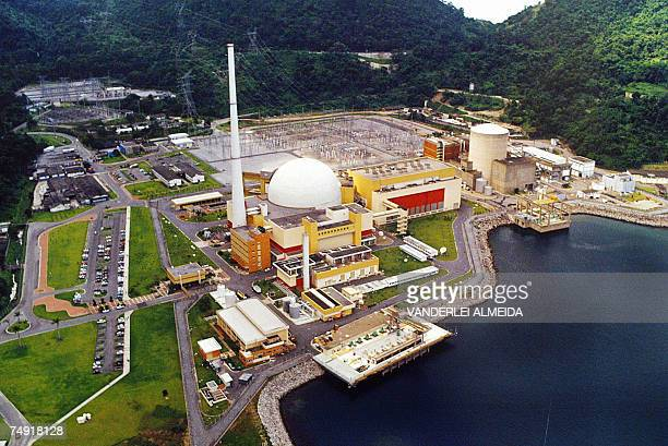 General view of the Angra 1 and Angra 2 nuclear power stations at Angra dos Reis 250 km Southern Rio de Janeiro 30 May 2005The Brazils National...