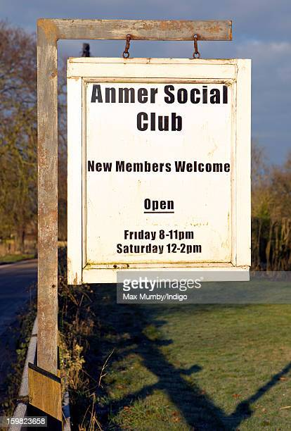 A general view of the Anmer Social Club sign in Anmer on January 13 2013 in King's Lynn England It has been reported that Queen Elizabeth II is to...