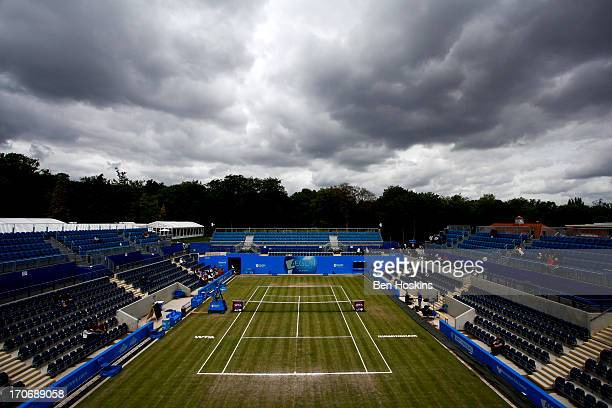 A general view of the Anne Jones centre court prior to day eight of the AEGON Classic tennis tournament at Edgbaston Priory Club on June 16 2013 in...