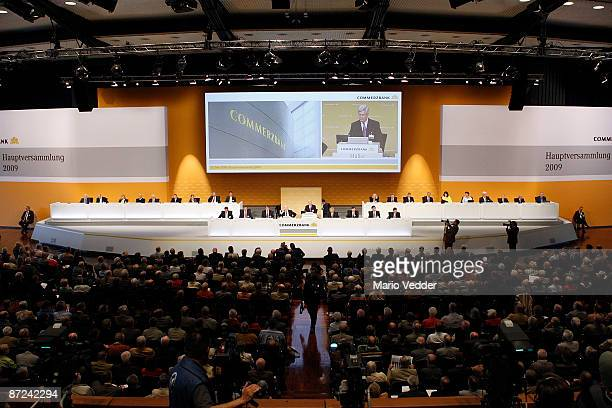 A general view of the annual shareholders meeting on May 15 2009 in Frankfurt am Main Germany At today's meeting key decisions on the new...