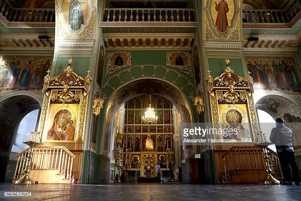 General view of the Annunciation Cathedral at Kazan Kremlin on November 23 2016 in Kazan Russia The official draw of FIFA Confederations Cup Russia...