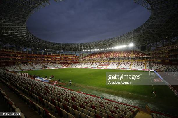 General view of the Antalya Stadium ahead of the Turkish Super Lig week 26 football match between Fraport TAV Antalyaspor and Demir Grup Sivasspor,...