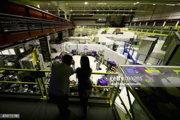 A general view of the Antimatter Factory during a behind the scenes tour at CERN the World's Largest Particle Physics Laboratory on April 19 2017 in...