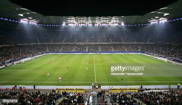 General view of the AOL Arena during the friendly game between Germany and China at the AOL Arena on October 12, 2005 in Hamburg, Germany.