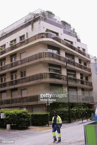 A general view of the apartment block where Nicole Coste allegedly lived with her son Alexandre taken July 10 in Paris France Prince Albert of Monaco...