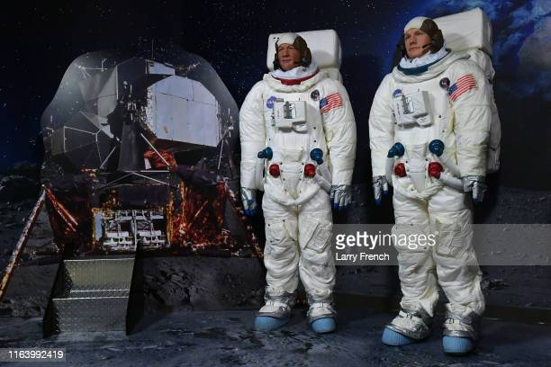 General view of the Apollo 11 Experience celebrating the 50th anniversary of the first moon landing with NASA guest Dr Jennifer Stern and figures of...