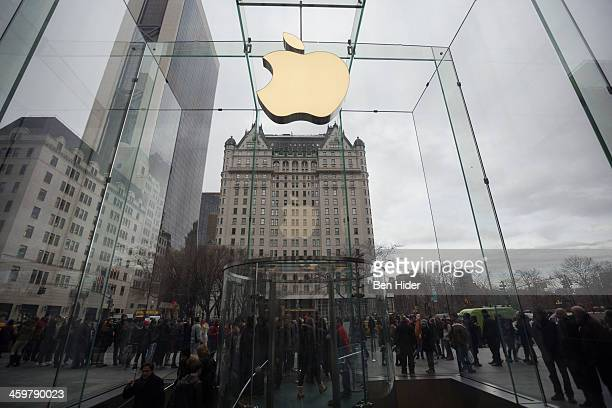 A general view of the Apple retail store opposite the Plaza Hotel on December 30 2013 in New York City