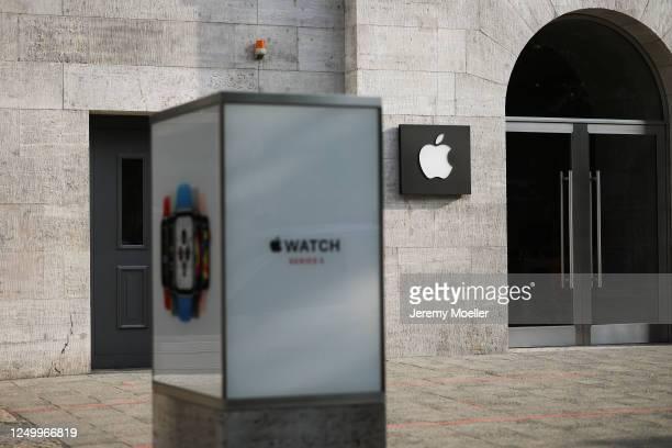 General view of the Apple Store at Kurfürstendamm in Berlin on June 10, 2020 in Berlin, Germany.