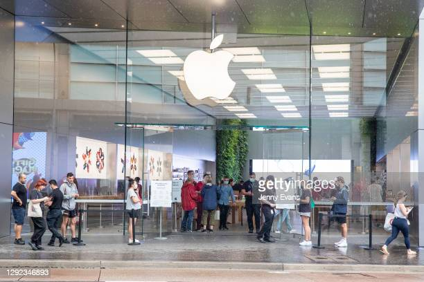 General view of the Apple Store in Bondi Junction on December 21, 2020 in Sydney, Australia. Sydney's northern beaches is on lockdown, as a cluster...