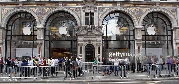 A general view of the Apple store on Regent Street on May 28 2010 in London England Apple iPads went on sale today in countries including Japan...