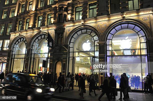 A general view of the Apple store on regent Street on November 20 2013 in London England Apple CEO Tim Cook recently stated that he had high hopes...